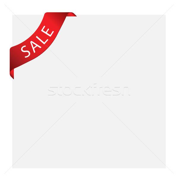 Vignette étiquette vecteur vente web design signe Photo stock © angelp