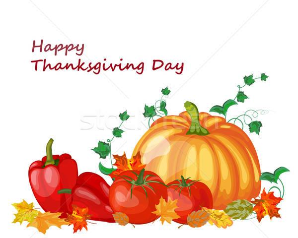 Ringraziamento giorno acero foglie tutti oggetti Foto d'archivio © angelp