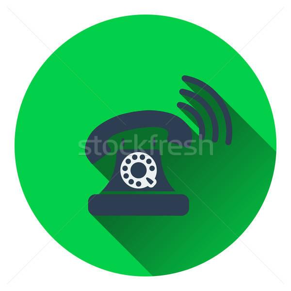 Old telephone icon Stock photo © angelp
