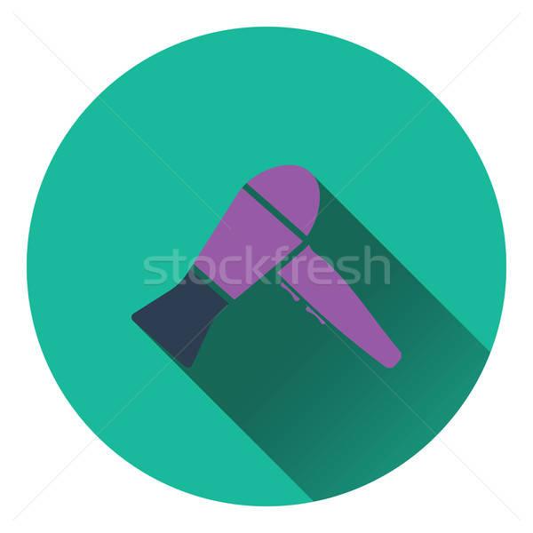 фен икона цвета дизайна волос силуэта Сток-фото © angelp