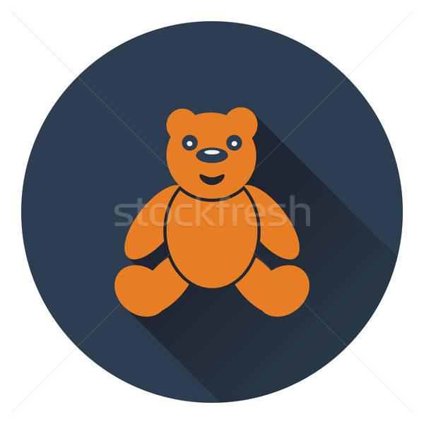Teddybär Symbol Farbe Design Baby Liebe Stock foto © angelp