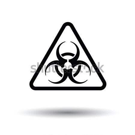 Ikon bioveszély szín terv orvosi felirat Stock fotó © angelp