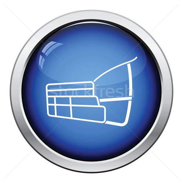 Psa kaganiec ikona przycisk projektu Zdjęcia stock © angelp