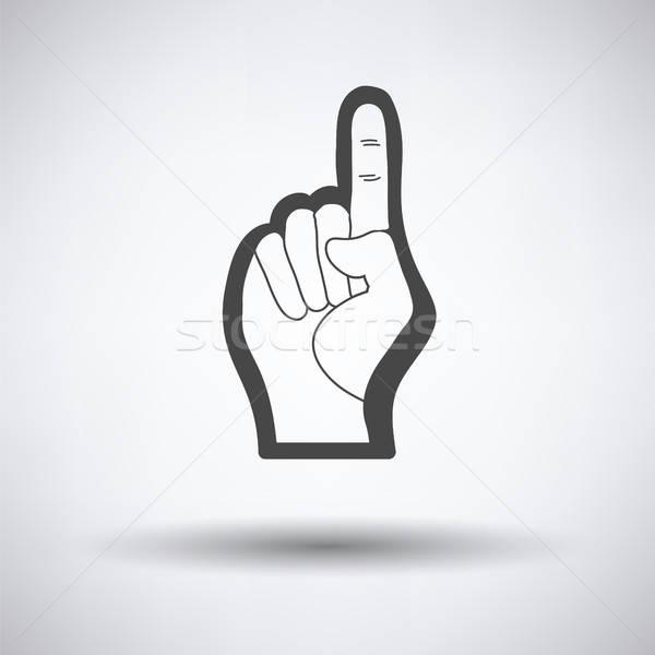 Amerikaanse voetbal schuim vinger icon hand Stockfoto © angelp