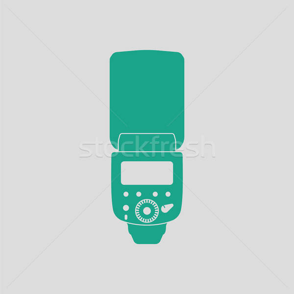 Icon of portable photo flash Stock photo © angelp