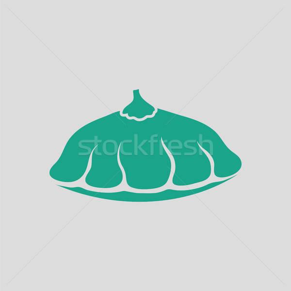 Bokor sütőtök ikon szürke zöld étel Stock fotó © angelp