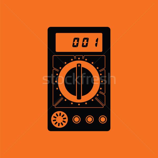ícone laranja preto digital eletricidade arame Foto stock © angelp