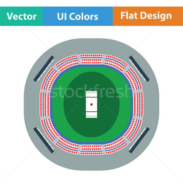 Kriket stadyum ikon spor arka plan sanat Stok fotoğraf © angelp