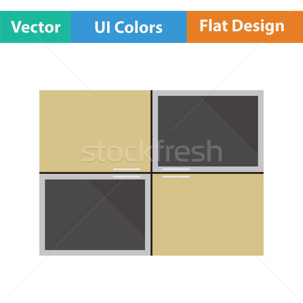 Wall cabinet icon Stock photo © angelp