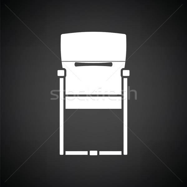 гость офисные кресла икона черно белые бизнеса служба Сток-фото © angelp