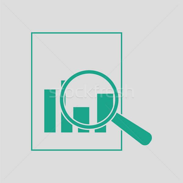 Magnífico vidrio papel tabla icono gris Foto stock © angelp