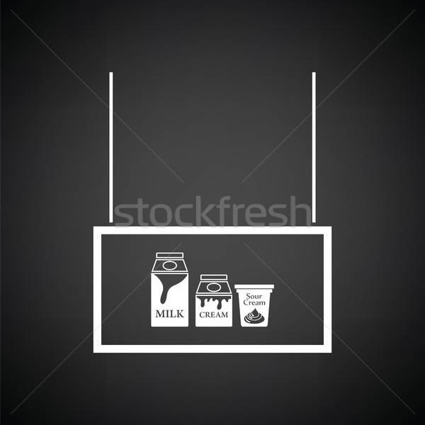 Milk market department icon Stock photo © angelp