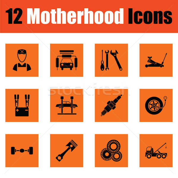 Motherhood icon set Stock photo © angelp