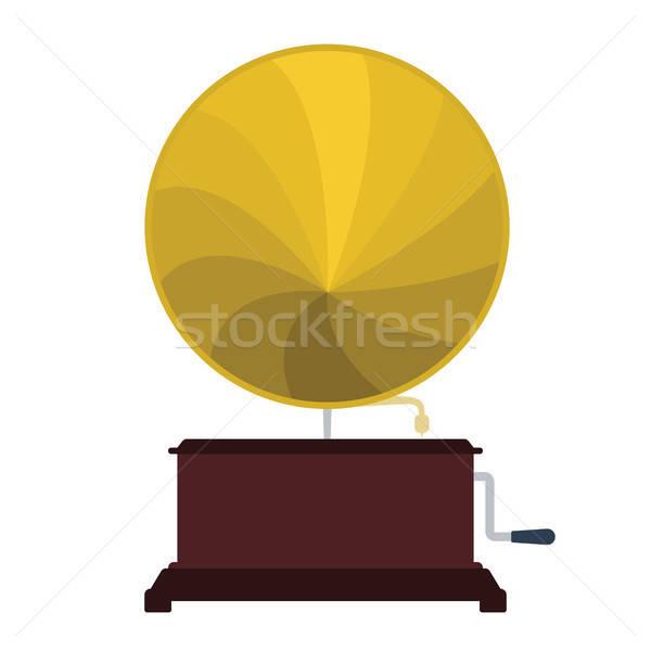 Gramofone ícone cor projeto música fundo Foto stock © angelp