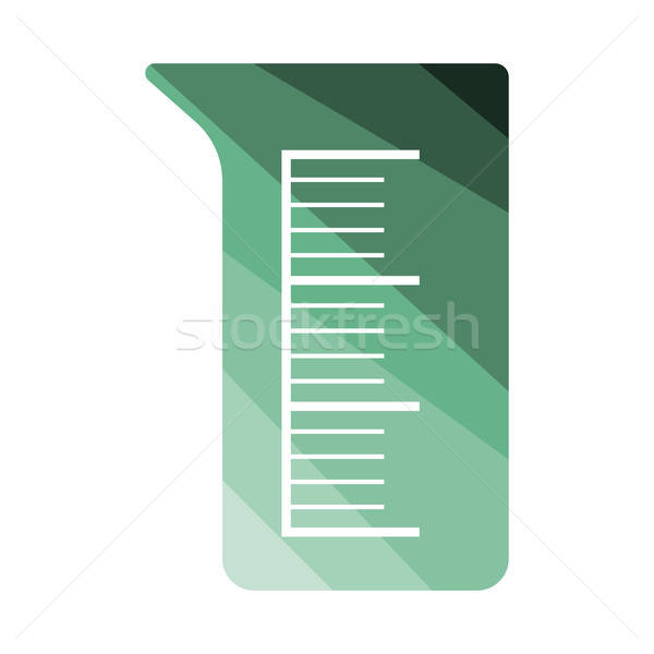Icon of chemistry beaker Stock photo © angelp