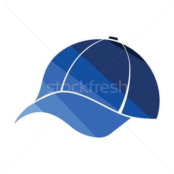 Baseballsapka ikon szín terv divat baseball Stock fotó © angelp