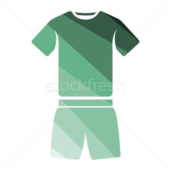 Fitness uniforme icono color diseno moda Foto stock © angelp