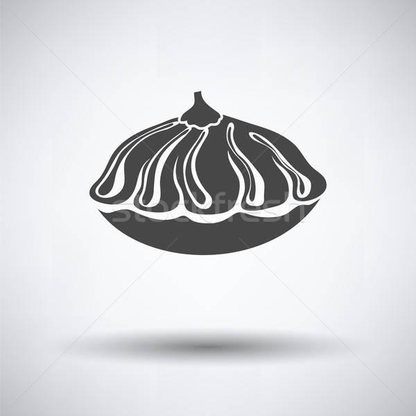 Zdjęcia stock: Bush · dynia · ikona · szary · żywności · charakter