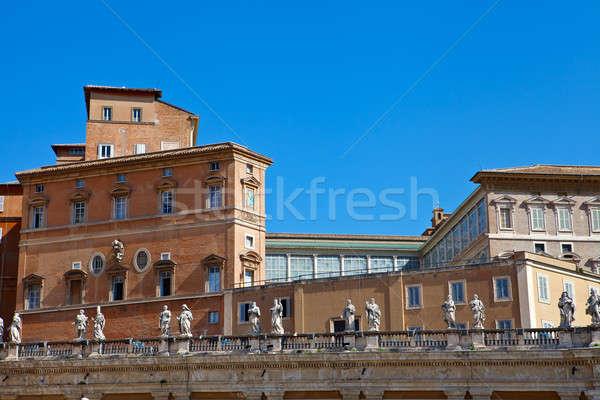 Vatikán pápa lakás épület Róma Európa Stock fotó © angelp
