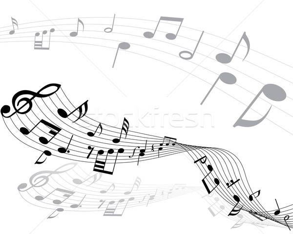 musical notes Stock photo © angelp
