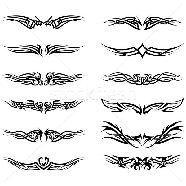 Set of tribal tattoos Stock photo © angelp