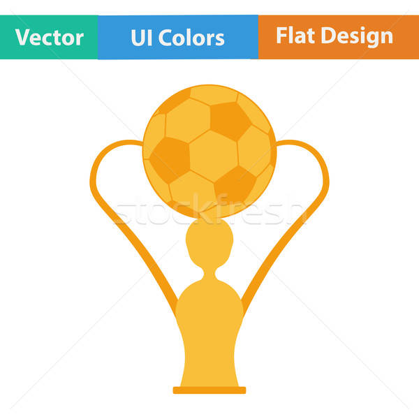 Flat design icon of football cup Stock photo © angelp