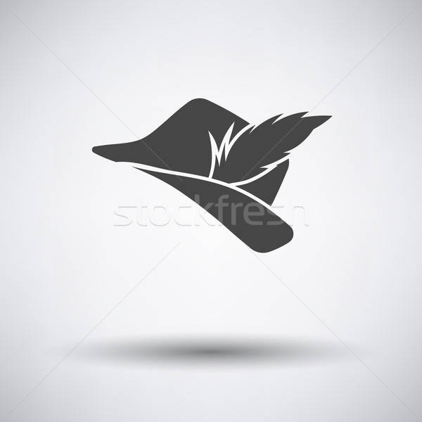 Hunter hat with feather  icon Stock photo © angelp