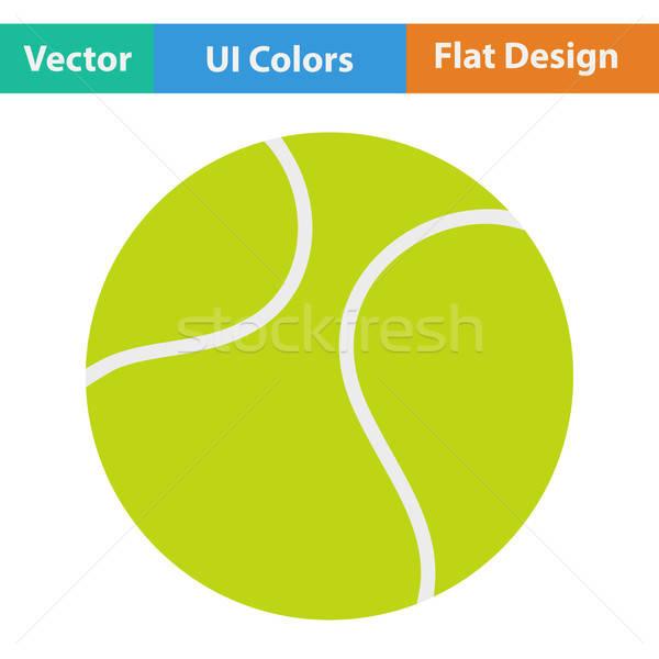 Tennisbal icon sport ontwerp fitness achtergrond Stockfoto © angelp