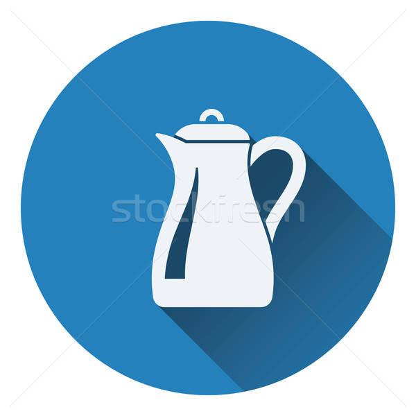 Vidro jarro ícone água comida fundo Foto stock © angelp