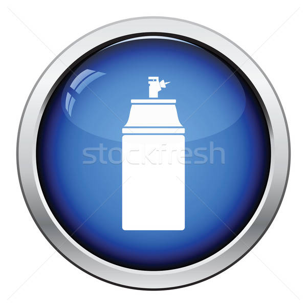Boya sprey ikon parlak düğme dizayn Stok fotoğraf © angelp