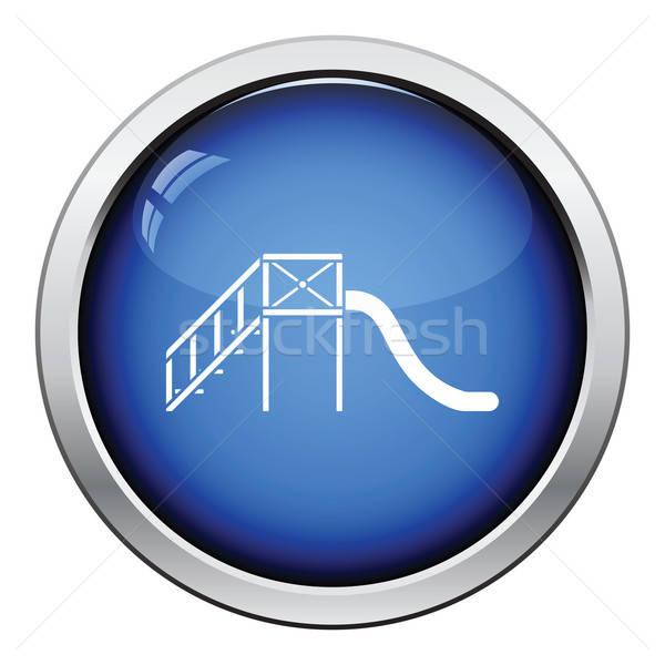 Slide icono botón diseno escuela Foto stock © angelp