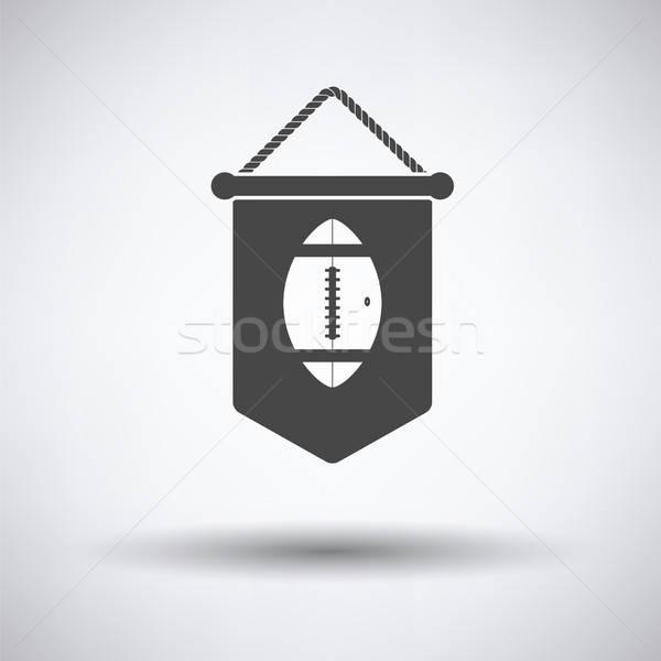 American football pennant icon Stock photo © angelp