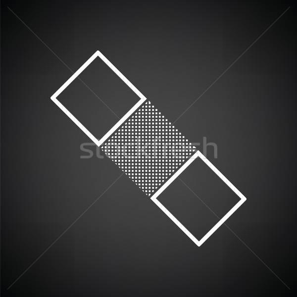 Médicaux plâtre icône blanc noir médecine noir Photo stock © angelp