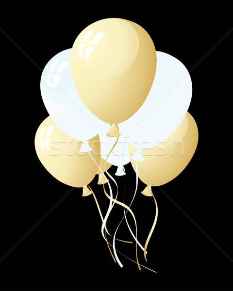 Palloncini bella aria compleanno sfondo divertimento Foto d'archivio © angelp