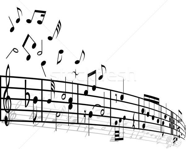Zene különböző jegyzetek fehér terv háttér Stock fotó © angelp