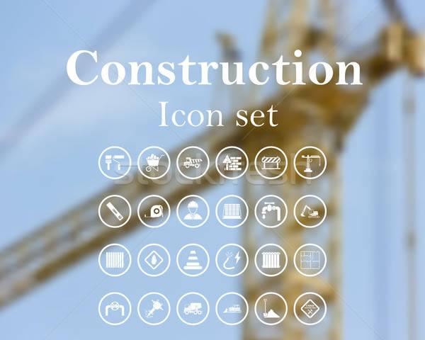 Construction icon set Stock photo © angelp
