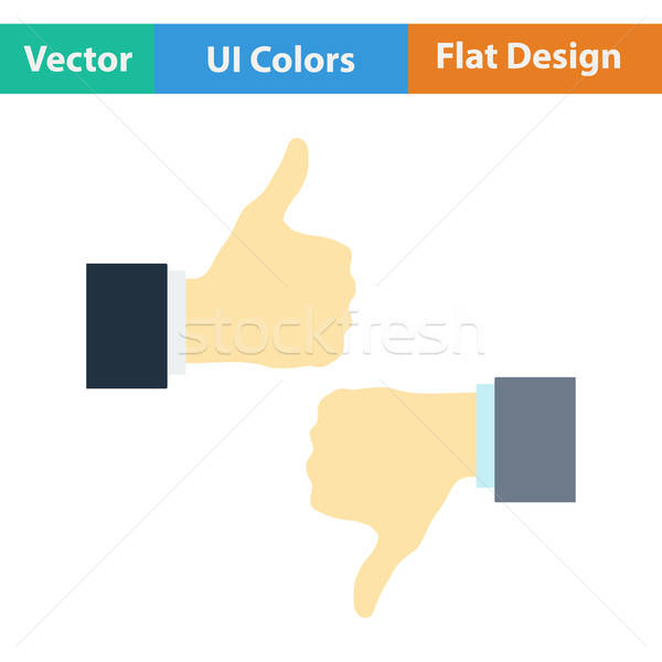 Flat design icon of Like and dislike Stock photo © angelp