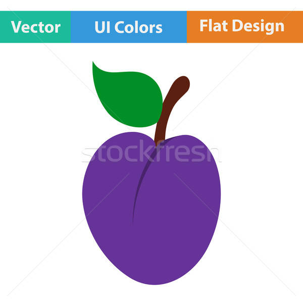 Design icona prugna ui colori segno Foto d'archivio © angelp