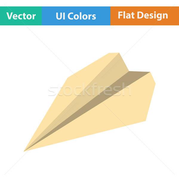 Paper plane icon Stock photo © angelp