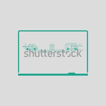 Ethernet переключатель икона цвета дизайна бизнеса Сток-фото © angelp