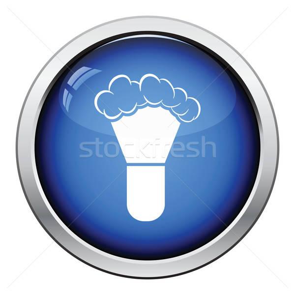 Ecset ikon fényes gomb terv haj Stock fotó © angelp