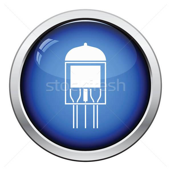 électronique vide tube icône bouton Photo stock © angelp