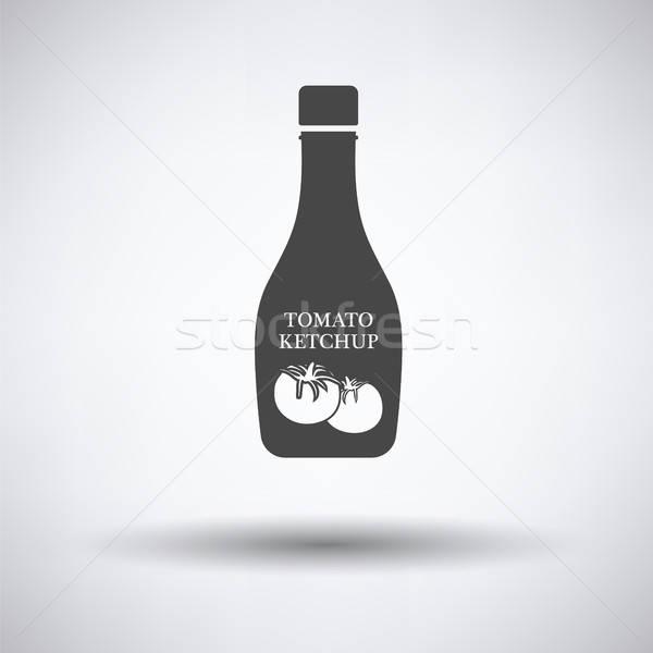 トマト ケチャップ アイコン グレー デザイン レストラン ストックフォト © angelp