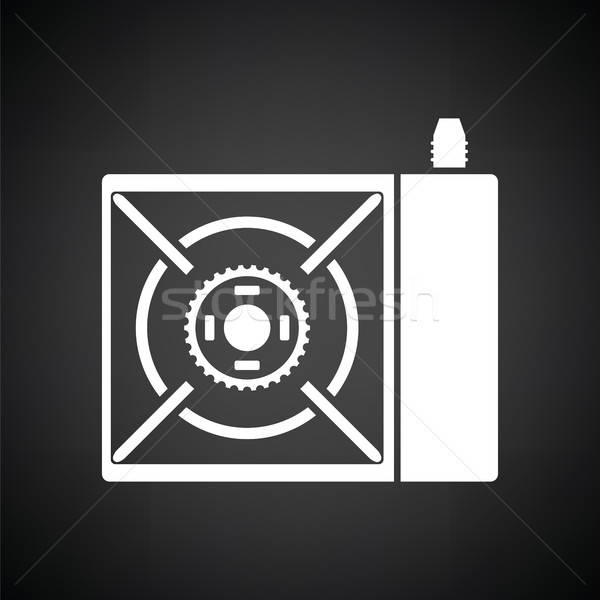Stock photo: Camping gas burner stove icon