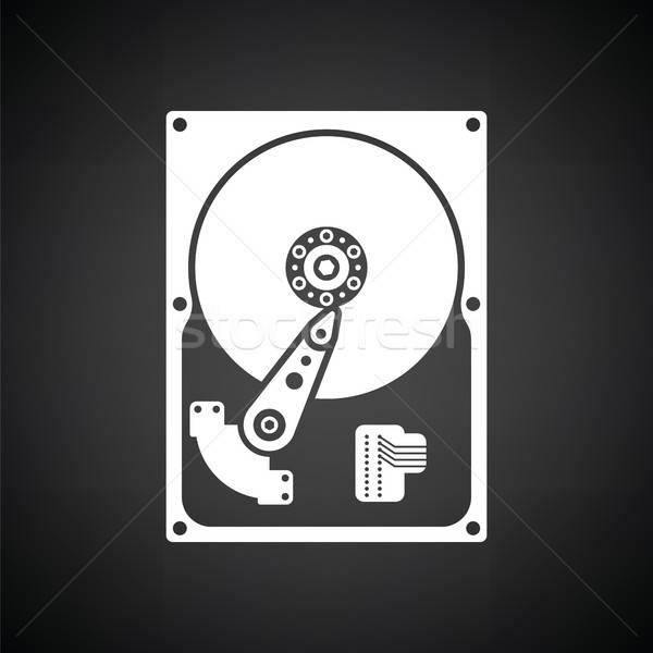 HDD icon Stock photo © angelp
