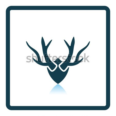 Deer's antlers  icon Stock photo © angelp