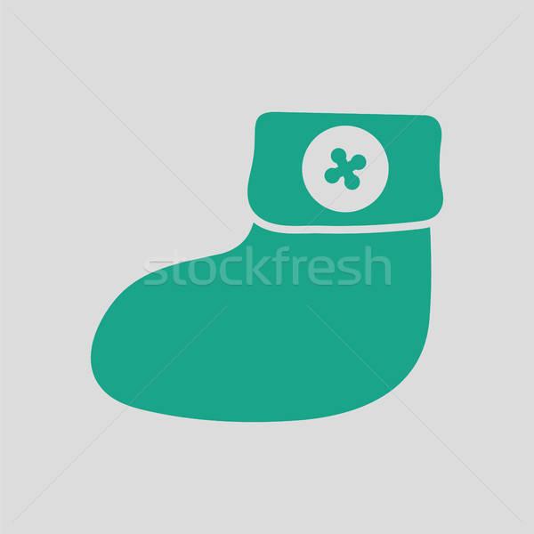 Baby bootie ico Stock photo © angelp