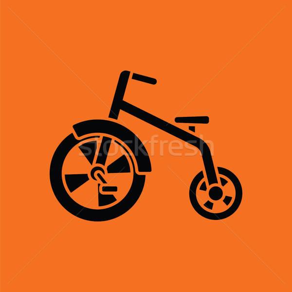 Bebek turuncu siyah eğlence bisiklet genç Stok fotoğraf © angelp