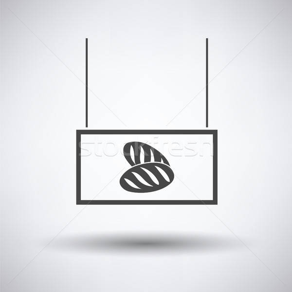 Brood markt afdeling icon grijs teken Stockfoto © angelp