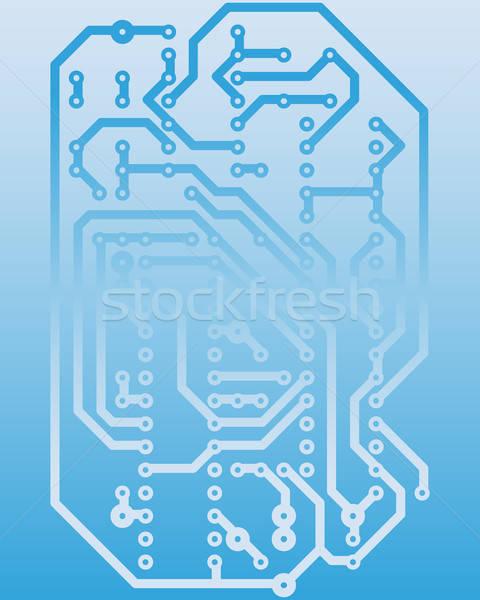 electrical scheme Stock photo © angelp